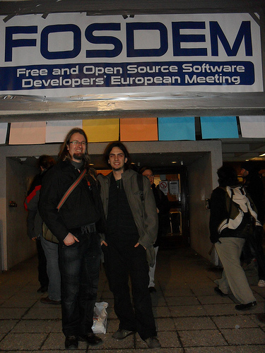 Pablo and Me at FOSDEM 2010